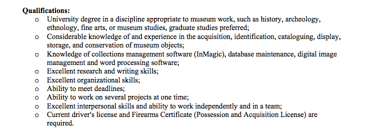 Job Qualifications List image information